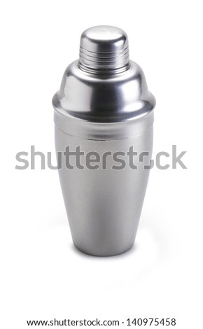 Cocktail shaker. Isolated on white background - clipping path - stock photo