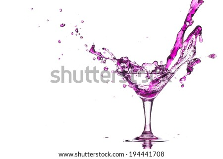 Cocktail splash of purple.