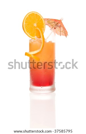 Cocktail Tequila Sunrise - stock photo