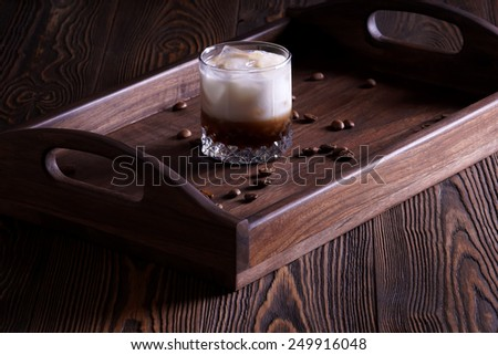 Cocktail White Russian - stock photo