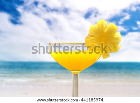 cocktail with beach view outdoor