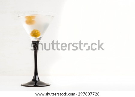 Cocktail with raspberry - stock photo
