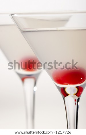 cocktail with red cherry