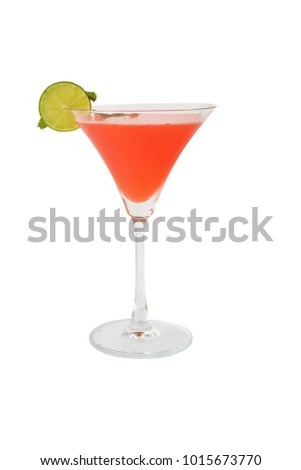 cocktails and alcohol on white background
