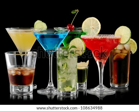 Cocktails collection - stock photo