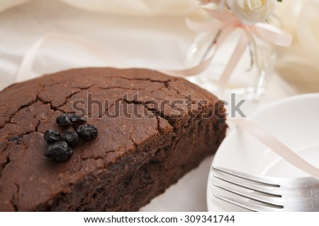 cocoa banana cake can be used as dessert background