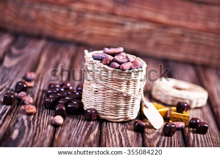 cocoa beans - stock photo
