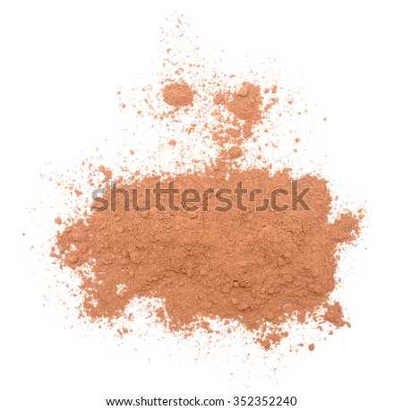 cocoa isolated on a white background - stock photo