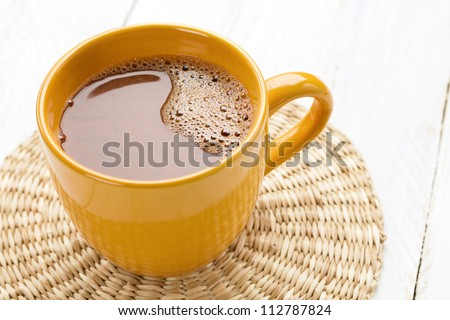Cocoa mug - stock photo