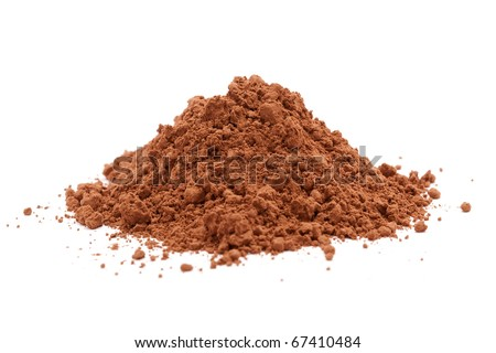 cocoa powder isolated - stock photo