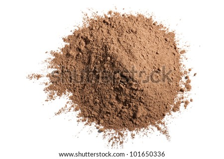 cocoa powder, isolated on white