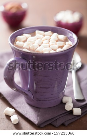 cocoa with small marshmallows - stock photo