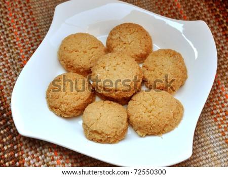 Coconut Biscuits 3 - stock photo