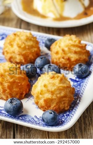 Coconut cakes - stock photo