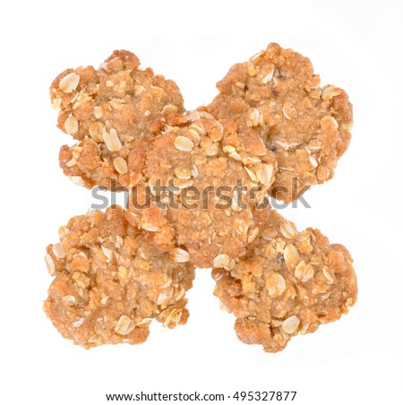 Coconut cookies isolated on white