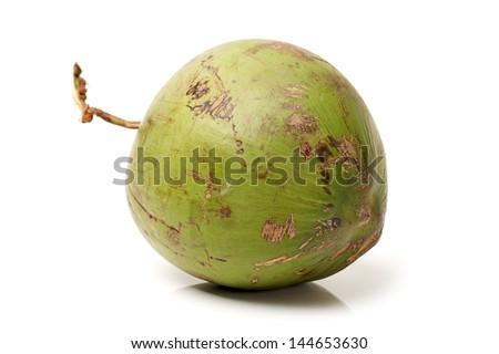 Coconut Fruit on white background