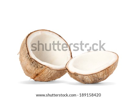 coconut isolate on white background - stock photo