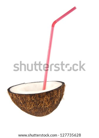 coconut isolated a white background