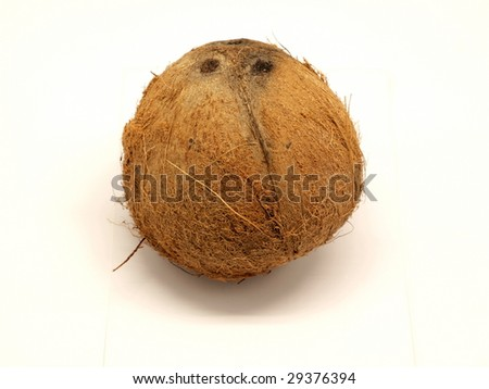 Coconut isolated over white background. - stock photo