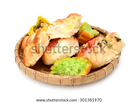 Coconut macaroons christmas cookies on white - stock photo