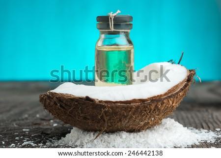 Coconut oil - stock photo