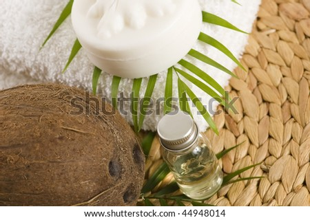 Coconut oil for alternative therapy - stock photo