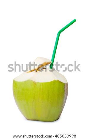 Coconut water - stock photo