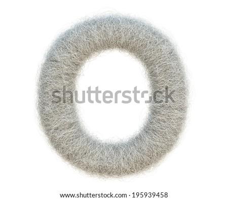 Cocoon Alphabet - stock photo