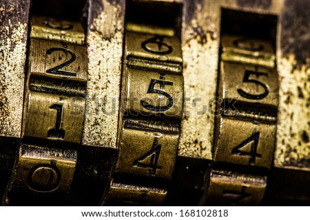 code lock - stock photo