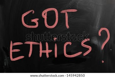 code of ethics - stock photo