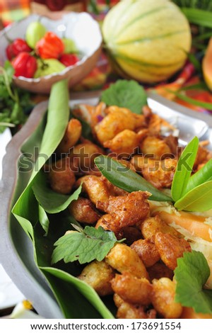 Codfish Fritters Caribbean And West African Traditional Dish Martinique
