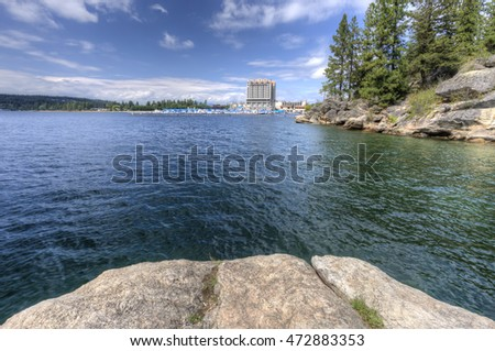 Coeur d'Alene Lake from Tubbs Hill.