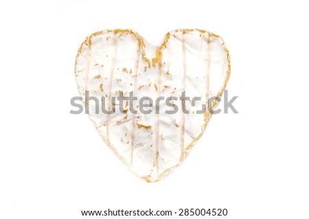 Coeur de Neufchatel  on a white background - stock photo