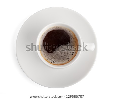 cofee cup isolated on white background with clipping path