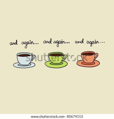 coffe again - stock photo