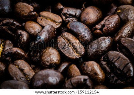 Coffe beans texture (Special process style) - stock photo