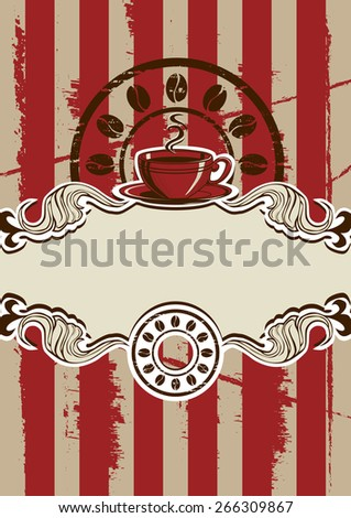 Coffe Cup Menu  Illustration