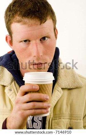 Coffee Addict - stock photo