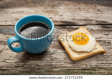 coffee and bread and egg