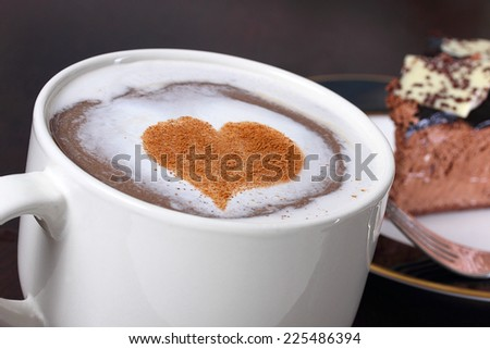 Coffee and cake - stock photo