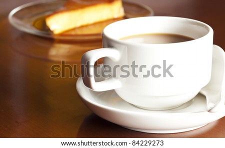coffee and cake - stock photo