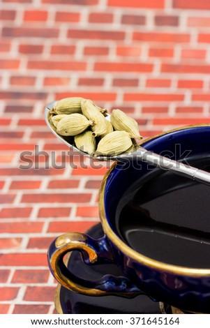 Coffee and cardamom - stock photo