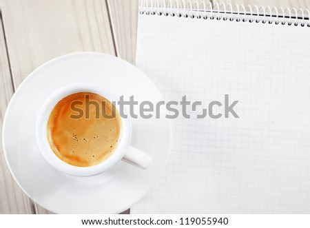 coffee and note - stock photo