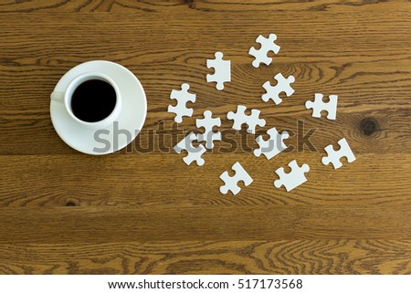 Coffee and puzzle