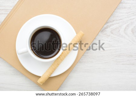 coffee and wafer