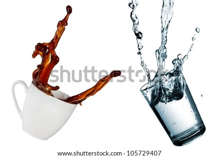Coffee Cup Spill Stock Images Royalty Free Images