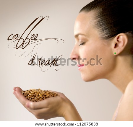 coffee aroma - stock photo