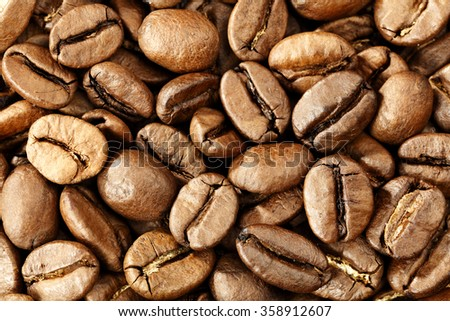coffee background and closeup