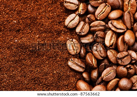 Coffee background with copyspace for text - stock photo