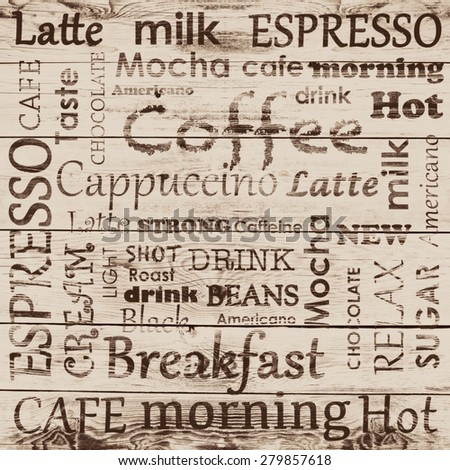 coffee background with text